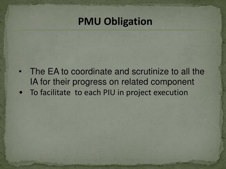 PMU Obligation