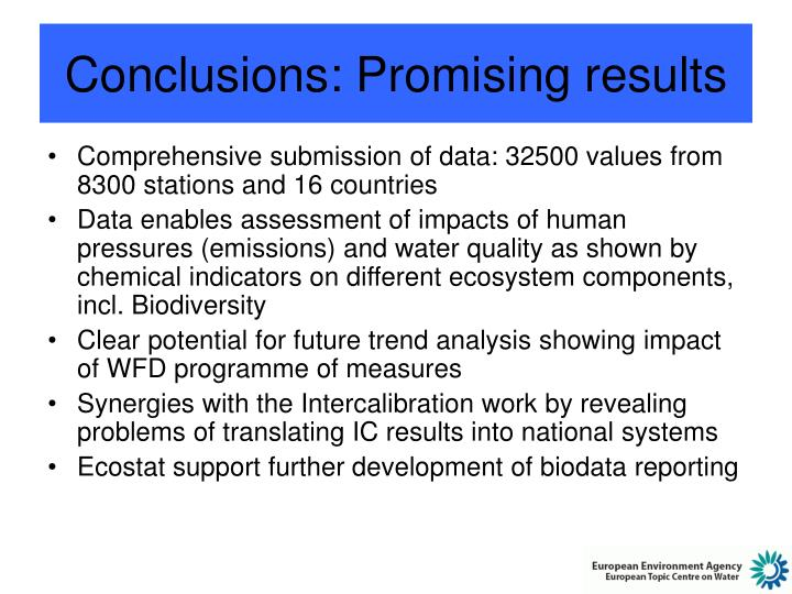 Conclusions: Promising results