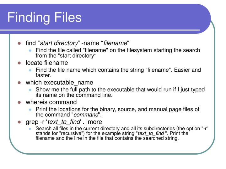 Finding Files