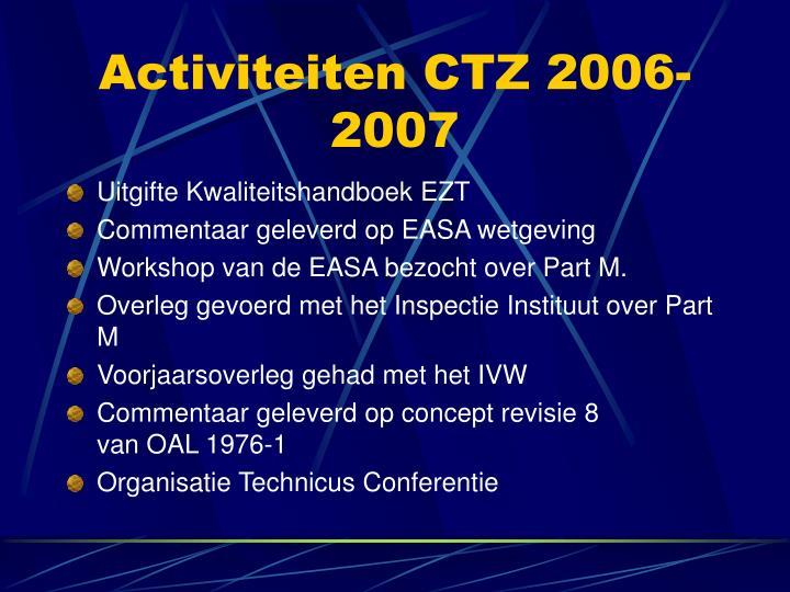 Activiteiten CTZ 2006-2007