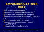activiteiten ctz 2006 2007
