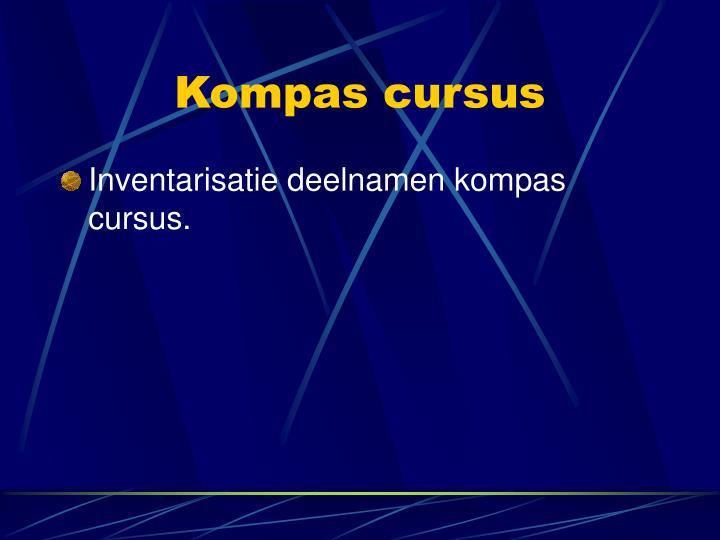 Kompas cursus
