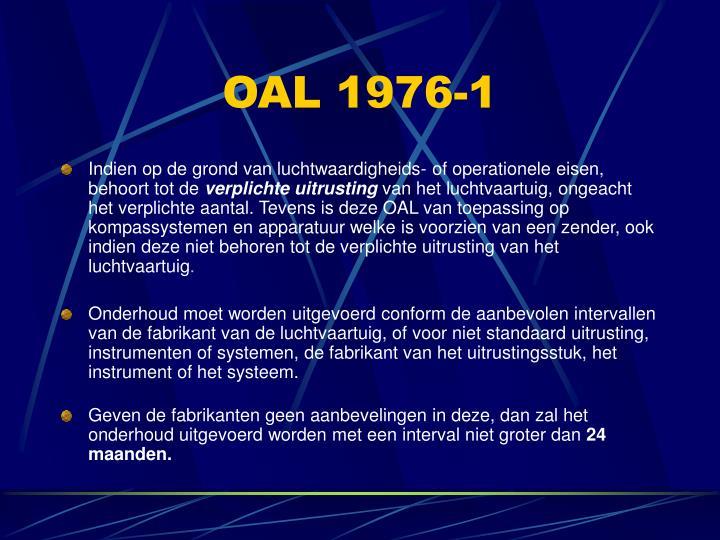 OAL 1976-1