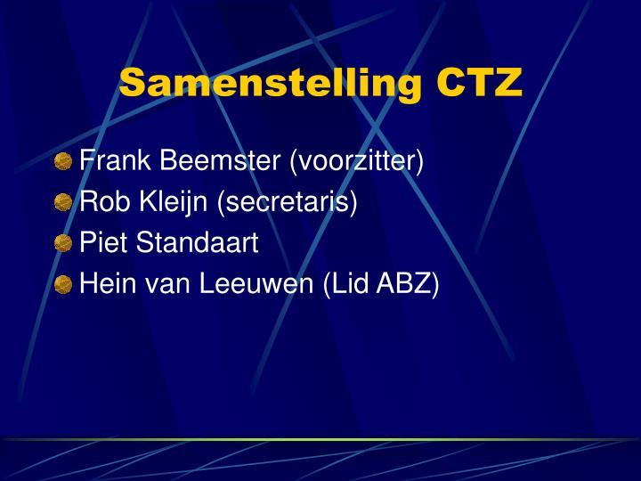 Samenstelling CTZ