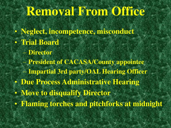Removal From Office