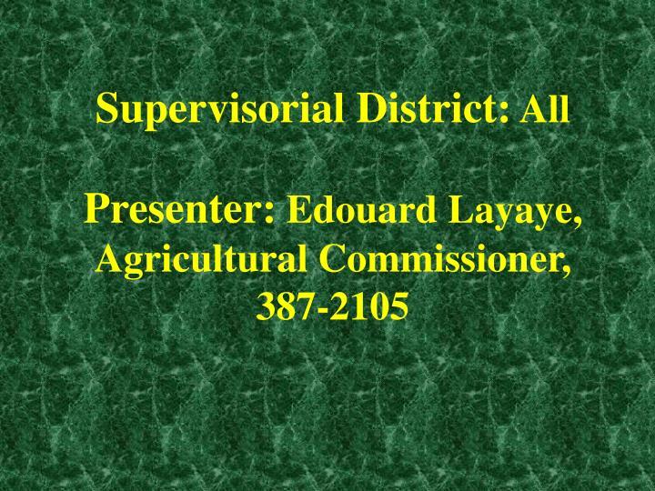 Supervisorial