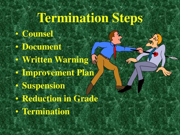 Termination Steps