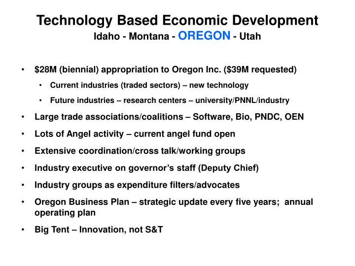 Technology Based Economic Development