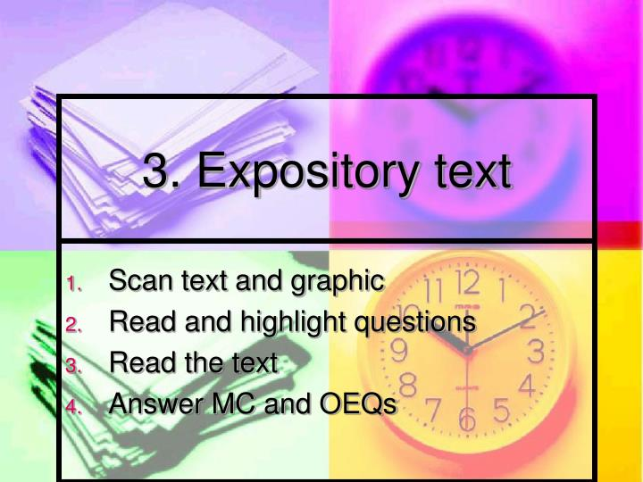 3. Expository text