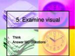 5 examine visual