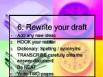 6 rewrite your draft