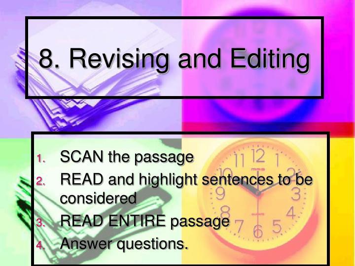 8. Revising and Editing