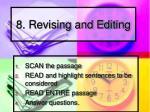 8 revising and editing