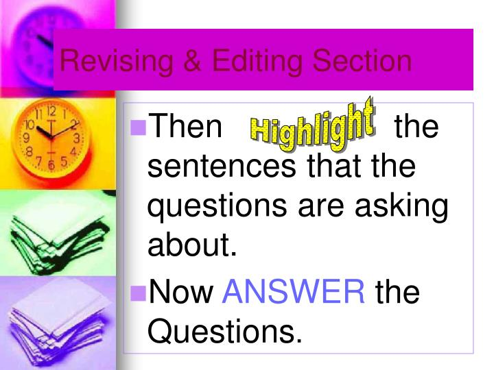 Revising & Editing Section