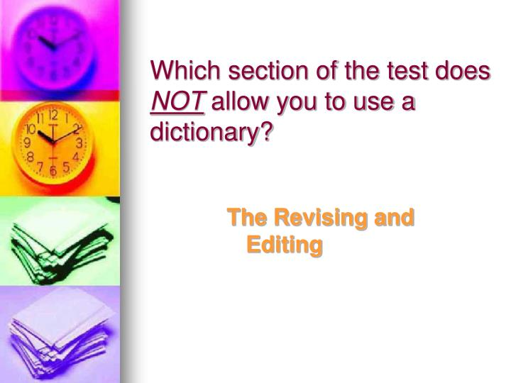 Which section of the test does