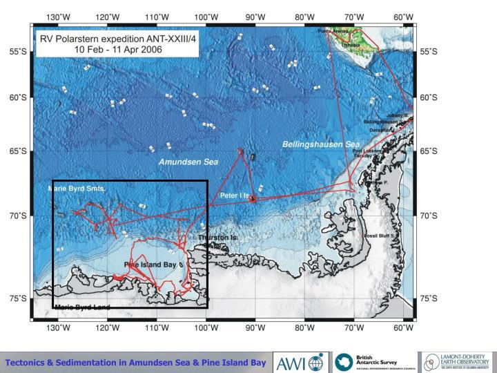 Tectonics & Sedimentation in Amundsen Sea & Pine Island Bay