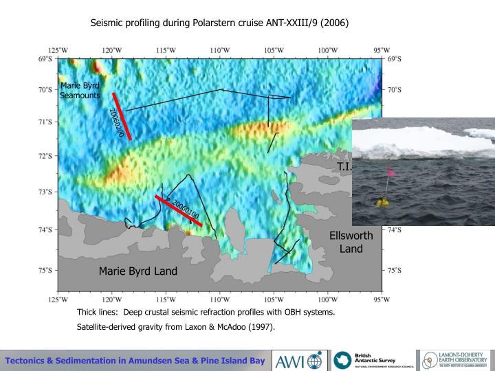 Seismic profiling during Polarstern cruise ANT-XXIII/9 (2006)