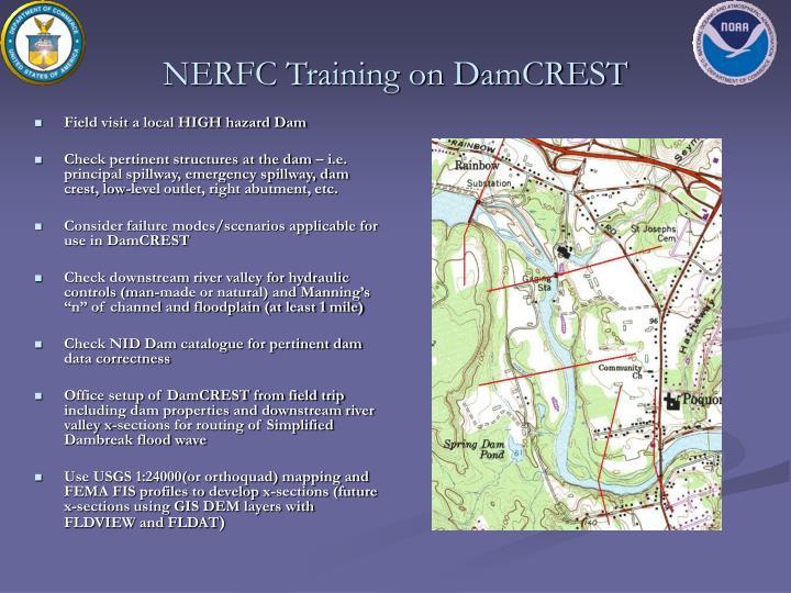 NERFC Training on DamCREST
