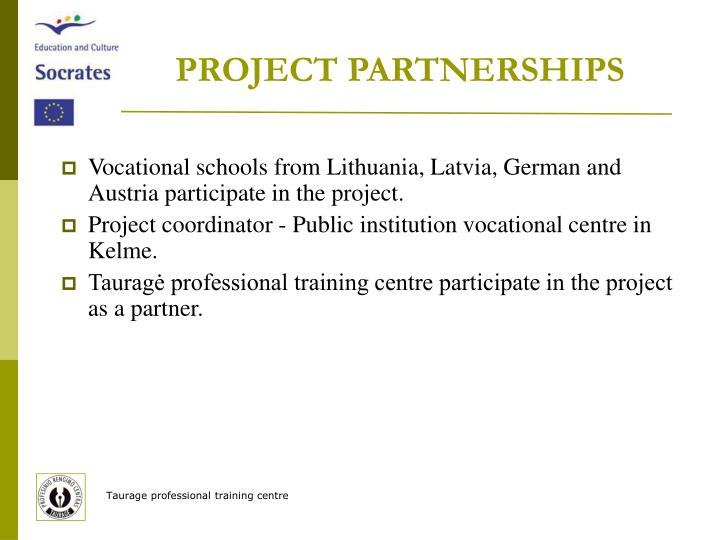 PROJECT PARTNERSHIPS
