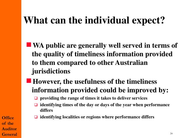 What can the individual expect?