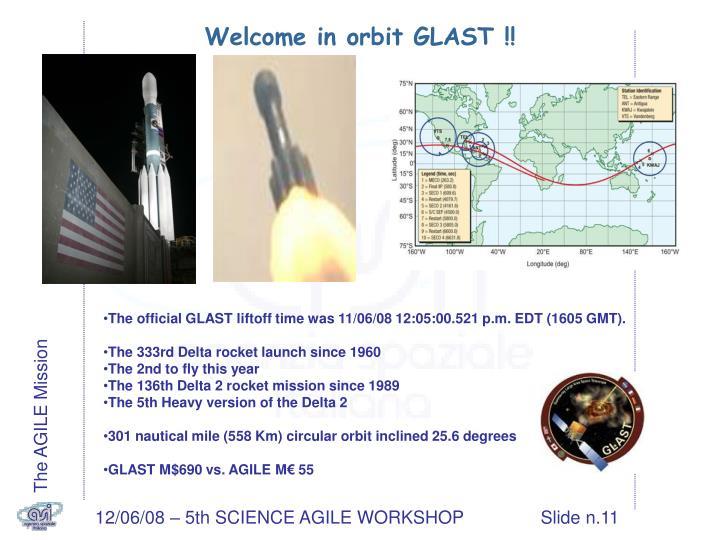 Welcome in orbit GLAST !!