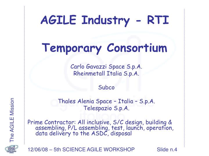 AGILE Industry - RTI