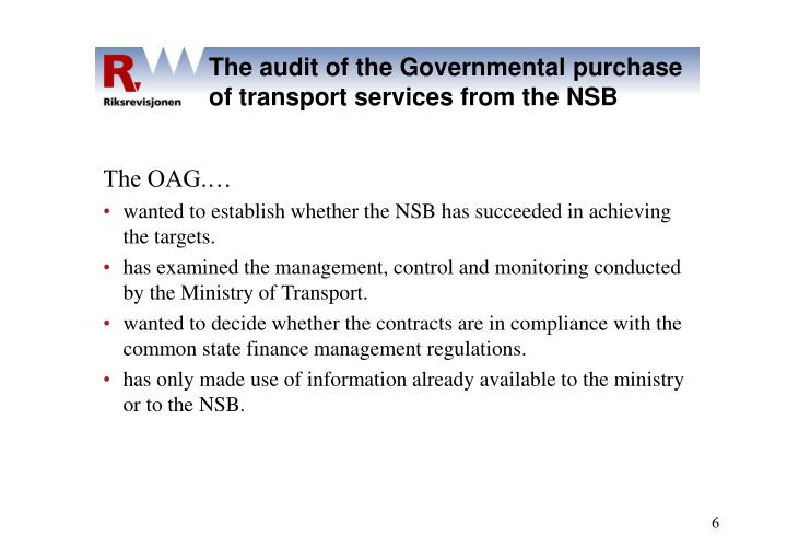 The audit of the