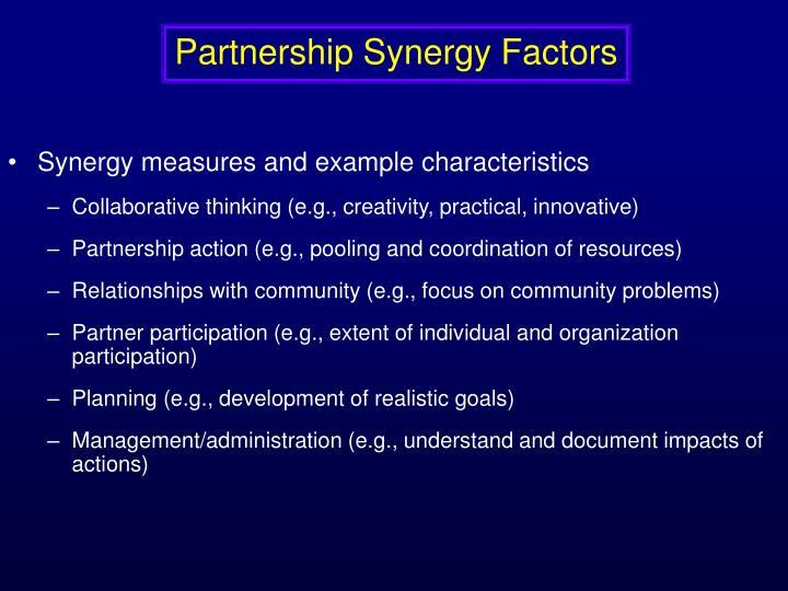 Partnership Synergy Factors