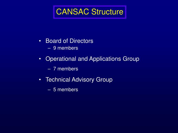 CANSAC Structure