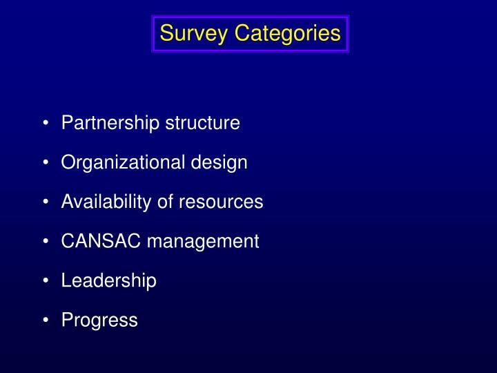 Survey Categories