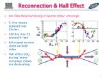 reconnection hall effect
