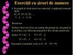 exerci ii cu iruri de numere4