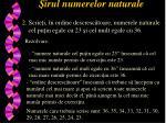 irul numerelor naturale1