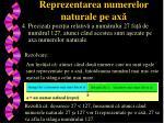 reprezentarea numerelor naturale pe ax3