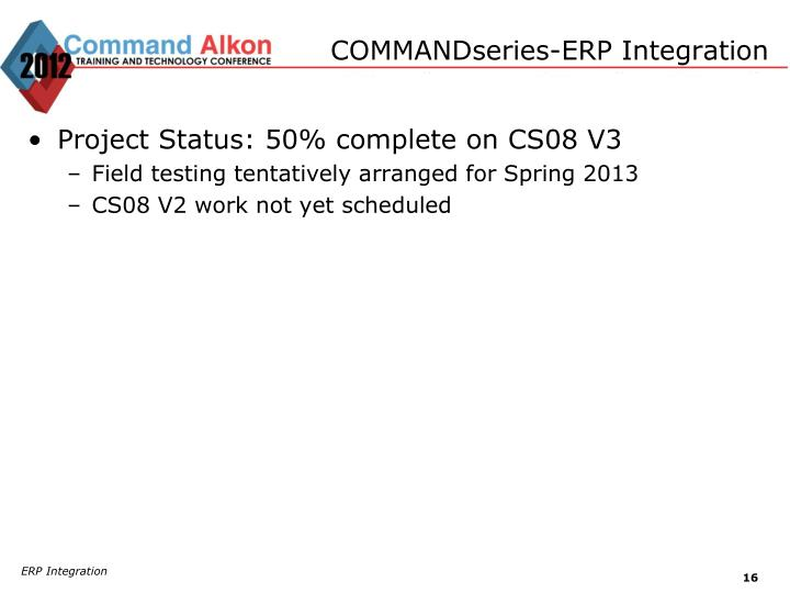 COMMANDseries-ERP Integration