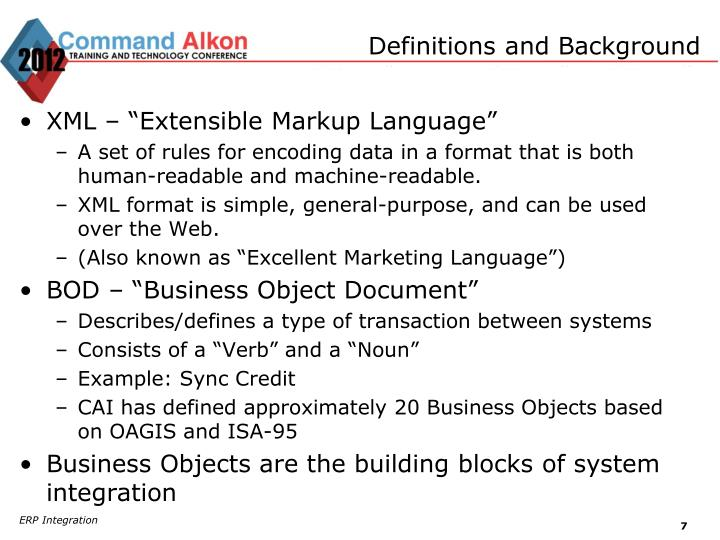 Definitions and Background