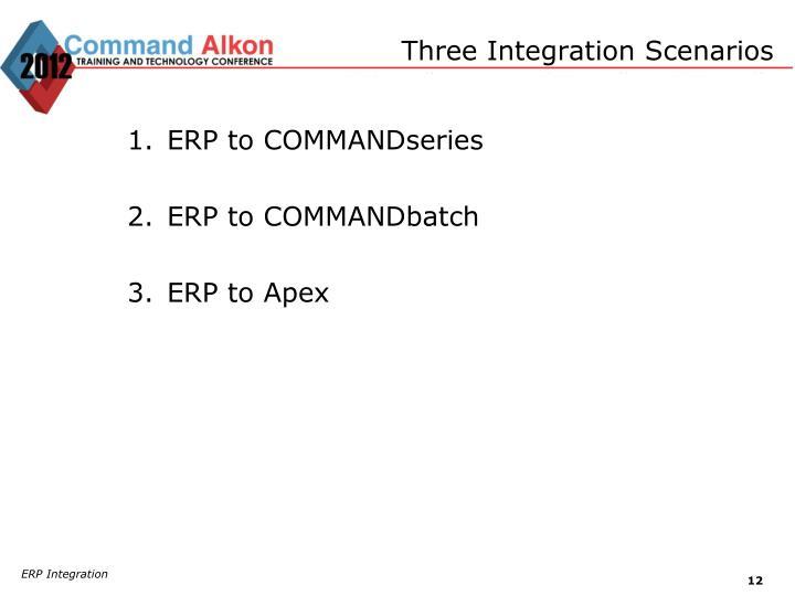 Three Integration Scenarios