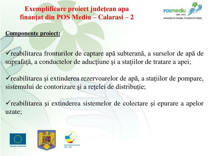 Exemplificare proiect judeţean