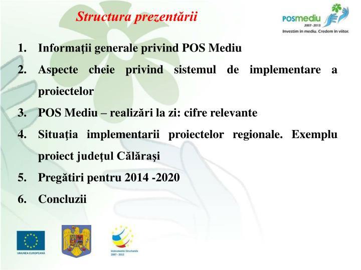 Structura prezentării