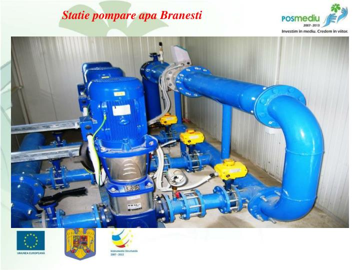 Statie pompare apa Branesti