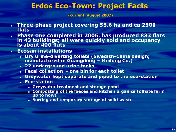 Erdos Eco-Town: Project Facts