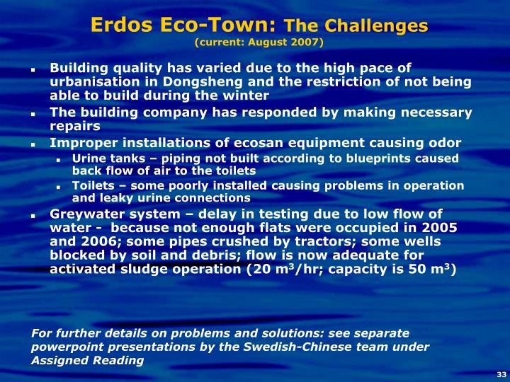 Erdos Eco-Town: