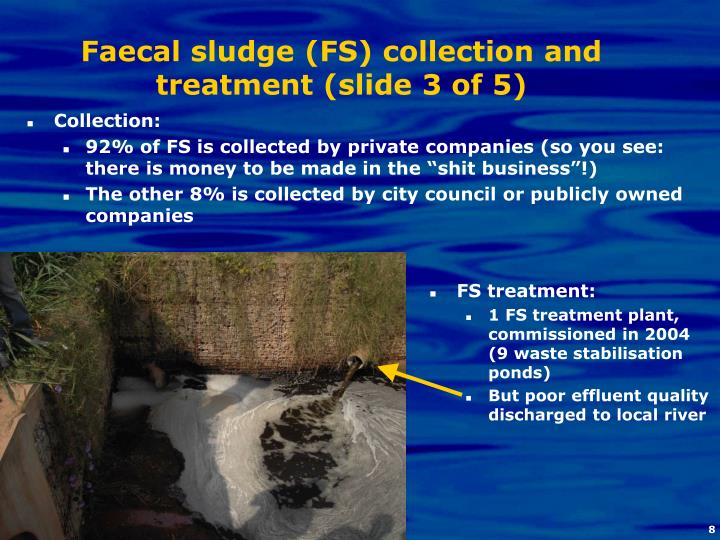 Faecal sludge (FS) collection and treatment (slide 3 of 5)