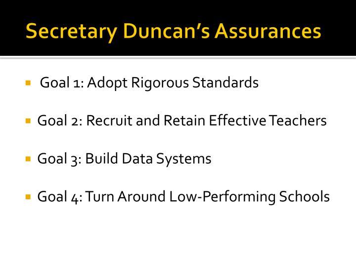 Secretary Duncan's Assurances
