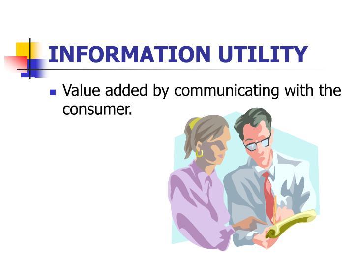 INFORMATION UTILITY