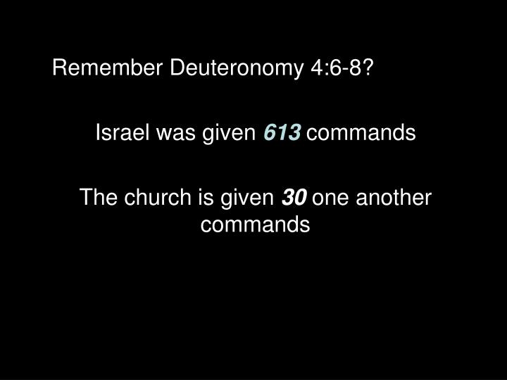 Remember Deuteronomy 4:6-8?