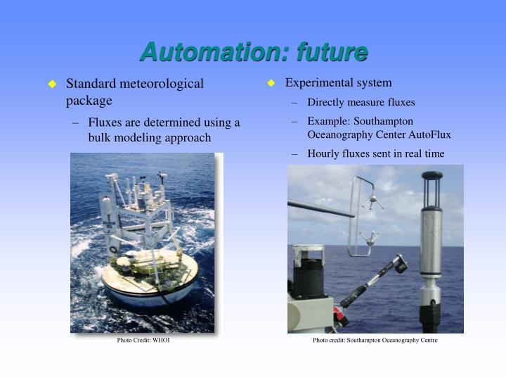 Automation: future