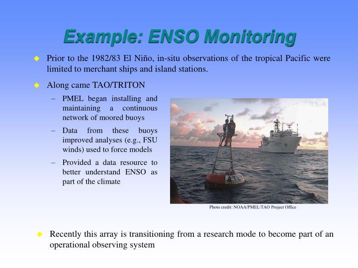 Example: ENSO Monitoring