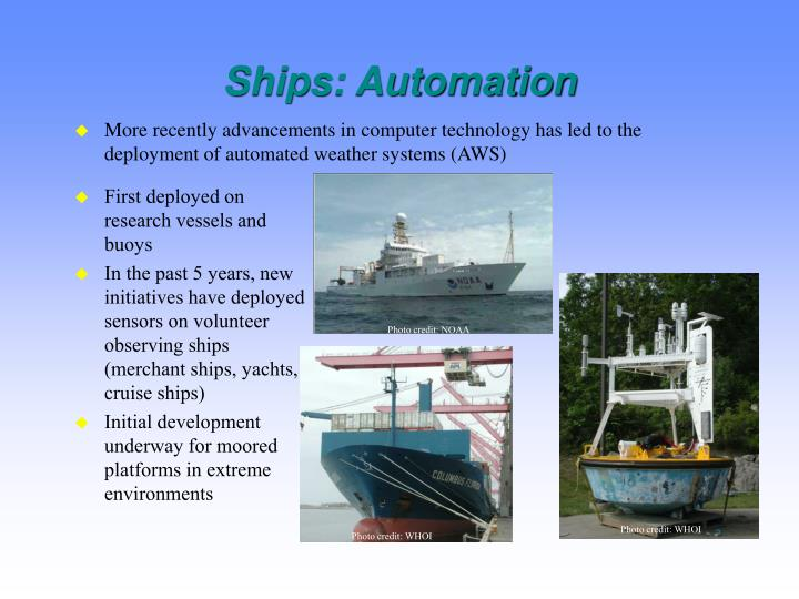 Ships: Automation