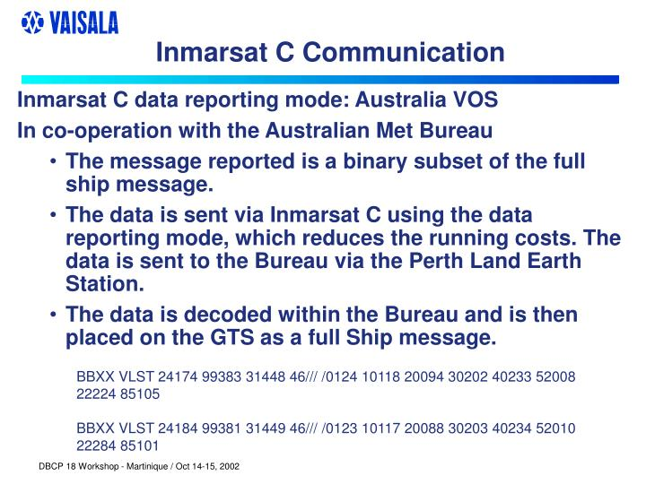 Inmarsat C Communication